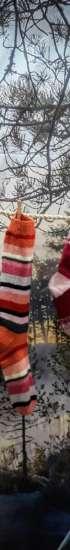 Villasukkia koristeena Oriveden kaupungin Asta-messuosastolla