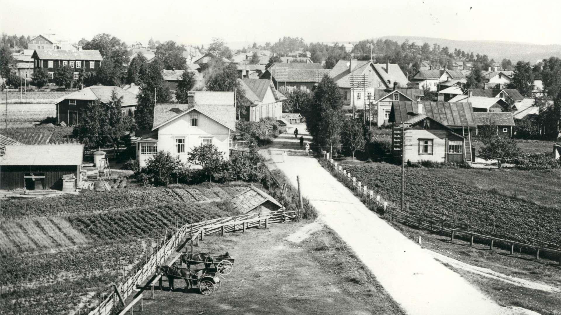 Oriveden kirkonkylää arviolta 1900-luvun alusta.