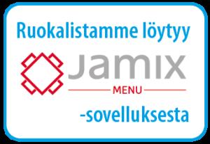 Ruokalistamme löytyy Jamix Menu -sovelluksesta.