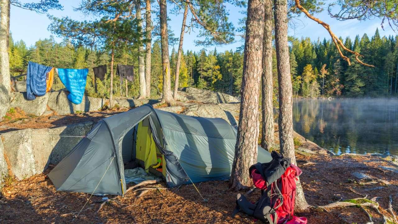 Orivedellä matkailija voi vaikkapa yöpyä teltassa.