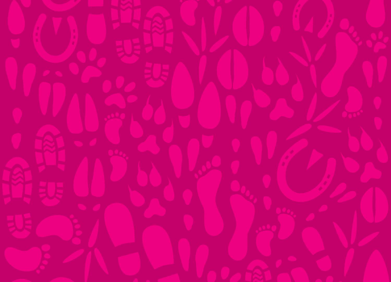 Pinkkiä Orivesi-kuosia.