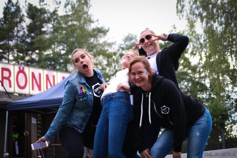 Festariosallistujia vuoden 2019 ORWfestillä.
